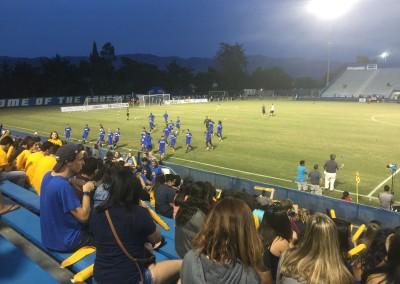 16,000 fans at University of California Santa Barbara vs Cal Poly SLO Soccer Match